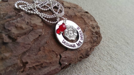 listing necklace girlfriend il wife firefighter
