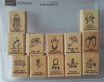 A Little Love - Stampin' Up! Rubber Stamp Set