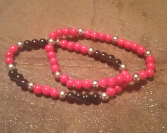 Set of Two Stretchy Bead Bracelet