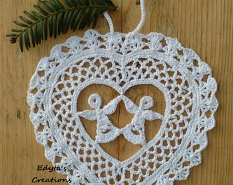 Lovely ''Angels in the Heart'' Ornament - Holy Communion, Wedding gift, Mother's day, Baptism, home decor, Birthday present.