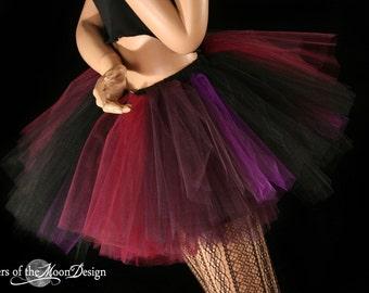 Adult tutu tulle skirt Sugar Plum fairy puffy petticoat dance ballet costume race club goth wear bachelorette party - You Choose Size- SOTMD