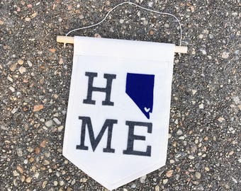 Home Means Nevada 8in x 10in Canvas Banner Wall Hanging