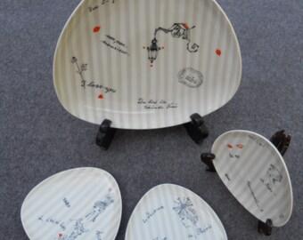 Set of 7 Dessert or Appetizer Plates