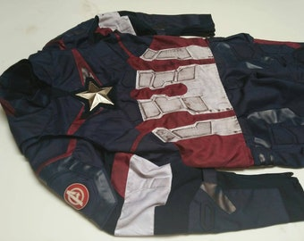 Age of Ultron Captain America Costume Suit (Replica) : Movie/Comic. Made From Cordura and Leather.