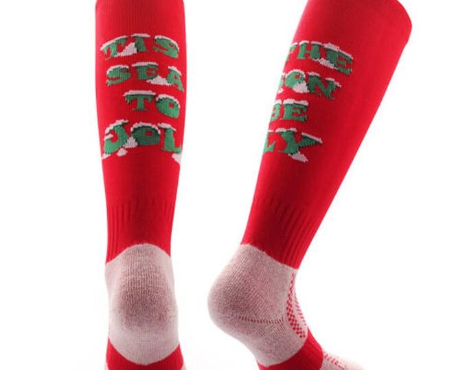 Samson® Be Jolly Christmas Socks Knee High Stockings Festive Seasonal Winter Thermal Cosy Warm