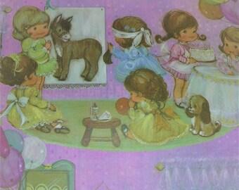 Années 1960 Gift Wrap Vintage emballage papier Vintage marque Vintage anniversaire de papier d'emballage