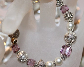 Pretty In Pink Swarovski Bracelet
