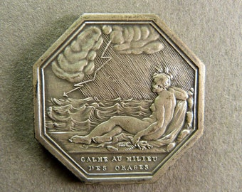 """SET in Silver """"Peace in the middle of storms"""" token by Gayrard"""