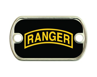 Ranger 2 Holes Stainless Steel Mini Dog Tag For Paracord Bracelets