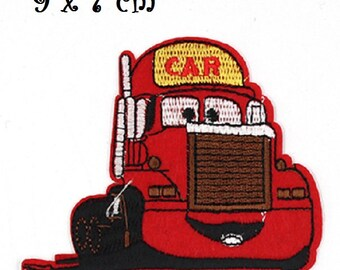 Patch Patch - Truck CARS red * 9 x 7 cm * embroidered patch applique