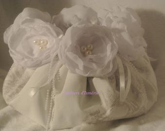 ball romantic fabric pouch