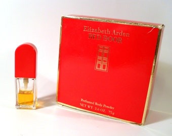 CLEARANCE Vintage 1980s Red Door by Elizabeth Arden 0.38 oz Eau de Toilette and 2.6 oz Perfumed Body Powder