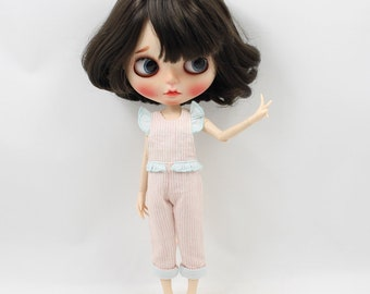Blythe Doll Striped Overalls  - 2 colors