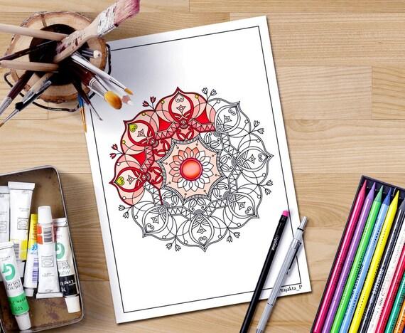 Mandala Coloring Pages Adults Printable : Mandala coloring pages for adults adult coloring book page