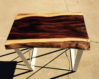 Live Edge Acacia End Table