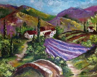 Oil painting Provence colors