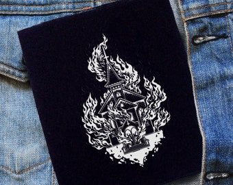 Burning Church Patch | Patches | Punk Patches