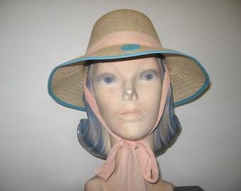 1960's Straw Sun Hat! (As Is)