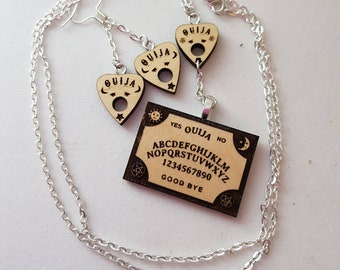Ouija board and planchette necklace