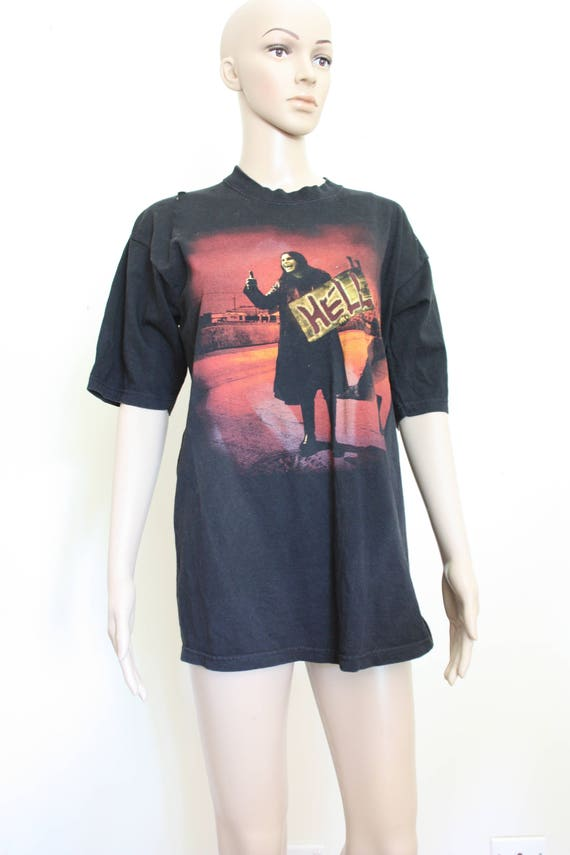 80s Bare faded Music Vintage Grunge HELL Worn Shirt Rock OSBORNE Large T Band Festival Thread 1980s Holes OZZY Black Sabbath bt3 6q41zfw