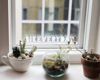 Bicycle Gift - Bike Gift - Bicycle Sticker - Bike Sticker - BIKE + EVERYDAY - Laptop Sticker - Cycling Sticker - BIKEVERYDAY - Gift Cyclist