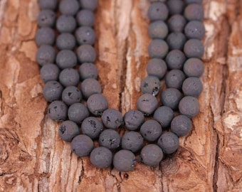 Titanium Electroplated Agate Beads,Faceted Round Ball Shaped Loose Beads,DIY Bracelet Necklace