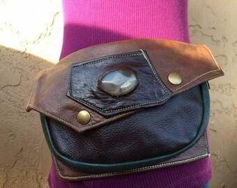 Designer Pocket Belt/Burner Belt/Festival Wear/OOAK/Quality Made/Biker/Urban Gypsy/Bohemian Soul/ RADWEAR/Handmade