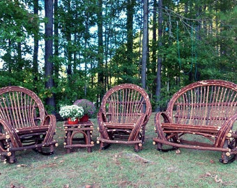 Twig Willow Furniture Set , 4 pieces