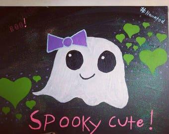 Cute ghost girl painting