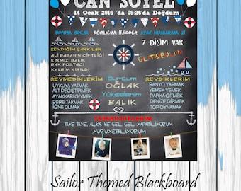 Sailor Themed Blackboard