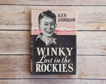 Boys Adventure Winky Lost in the Rockies Ken Anderson Christian Book Vintage Christian Teen Novel Summer in the Rockies Read Pink and Black