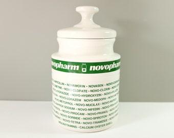 Novopharm vintage apothecary jar - Retro apothecary jar - Drugstore jar - Pharmacy jar - Vintage drug jar