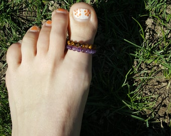 Big toe crystal ring