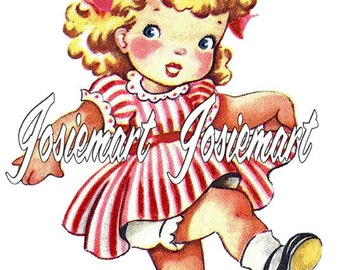 Vintage Digital Download American Girl Image July 4th Collage Large JPG PNG