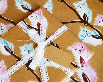 Kitty Catkins - Luxury Gift Wrap Pack (Lace Trim Ribbon) (PACK OF 2)