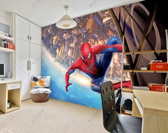 Spiderman Mural #6, Superhero Wallpaper, Spider Man Wall Décor, Wall Decal,  Nursery And Room Décor, Wall Art