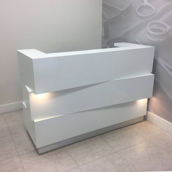Miami Reception Desk With Built In Led