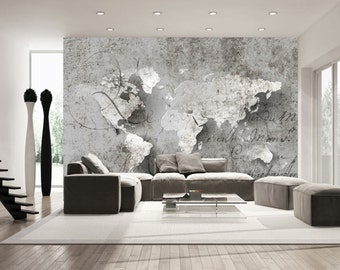 World map wall mural etsy gumiabroncs Gallery