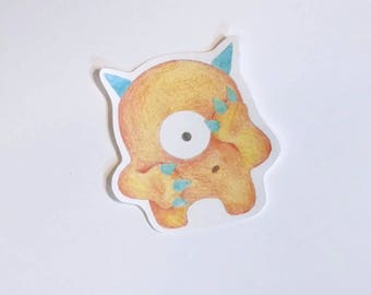 Timid Monster Sticker - Early