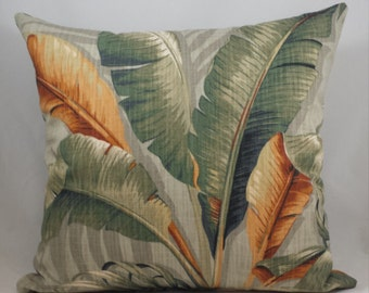Tommy Bahama Palm Leaf Cushion Cover. Multiple sizes available.