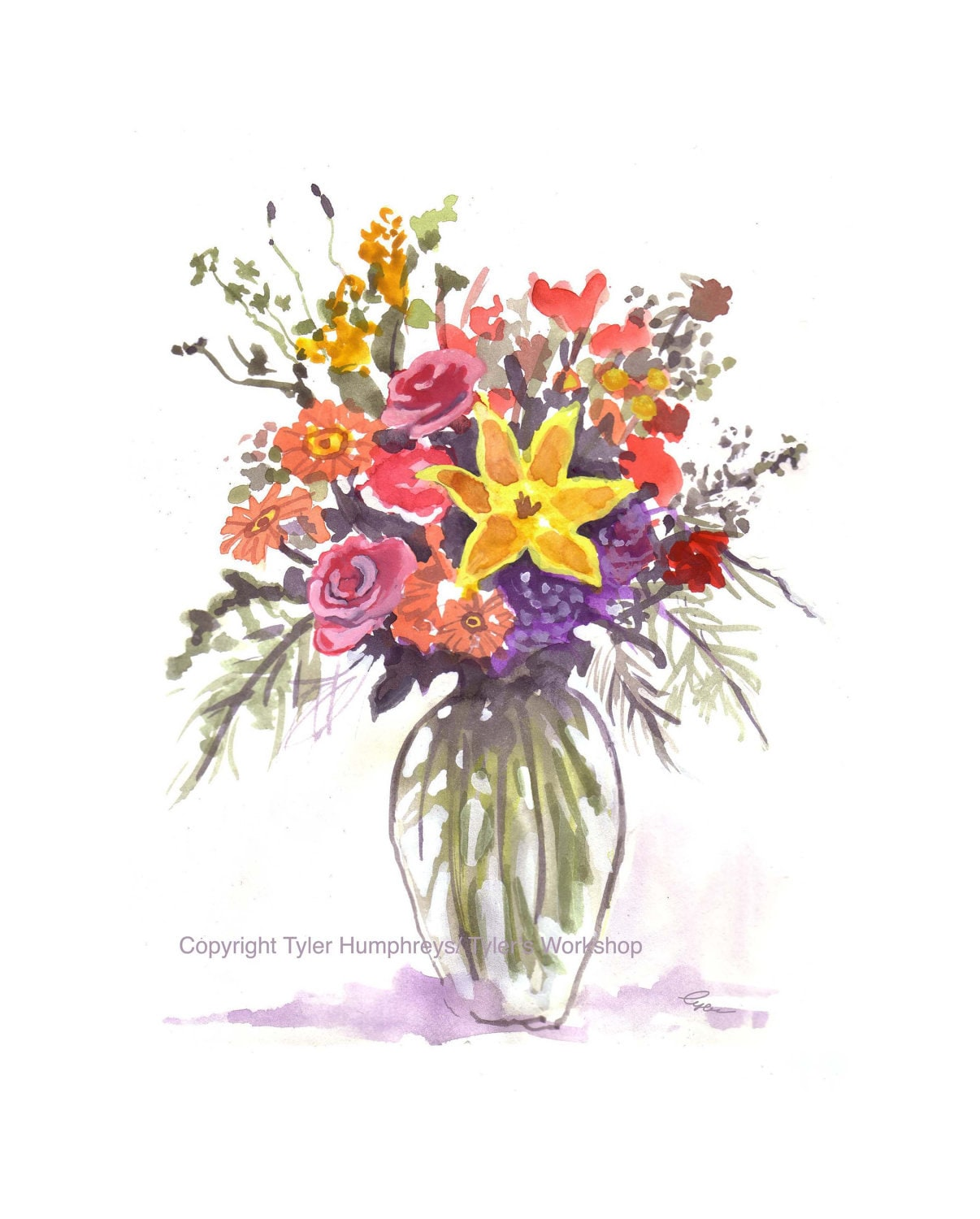 Fancy Watercolor Flower Bouquet Pictures - Images for wedding gown ...