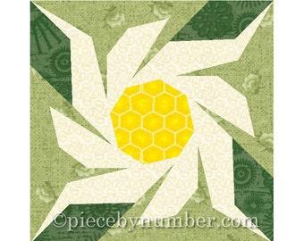 Edelweiss flower quilt block pattern, paper piecing patterns, garden quilt paper pieced flower quilt pattern PDF quilt pattern Switzerland