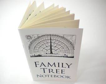 2 Family Tree Notebooks Print Edition, gifts for baby, men, women, grandparents, in-laws, chart ancestry for genealogy father's day gift