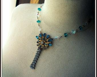Vintage Teal Necklace