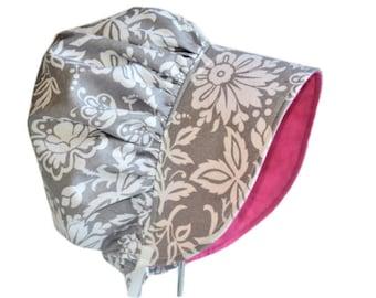 Baby Bonnet, Baby Sun Hat, Baby Girl Bonnet, Floral Hat, Garden Bonnet, Summer Hat, Newborn Hat, Cotton Bonnet, Toddler Hat, Spring Bonnet