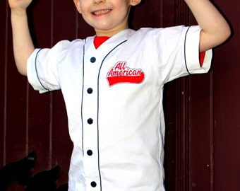 Two  Pattern Bundle Old Tyme Baseball Shirt for Boys and Girls, Unisex, Child, and Tween. Size 2-7 and 8-16 yrs