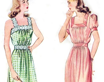 Simplicity 4845 sewing pattern // Misses' and Women's Nightgown