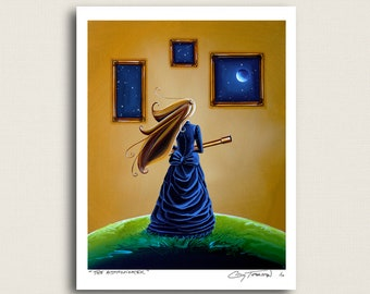 The Astronomer - my turn of the century science girl - Signed 8x10 Semi Gloss Print (5/10)