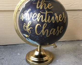Calligraphy Globe | Custom Globe | Adventure of | Adventure Decor | Nursery Decor | Baby Shower