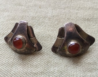Red Stone Earrings -- 731